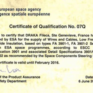 ESA renew its trust to DRAKA Fileca for Space Launchers and Satellites