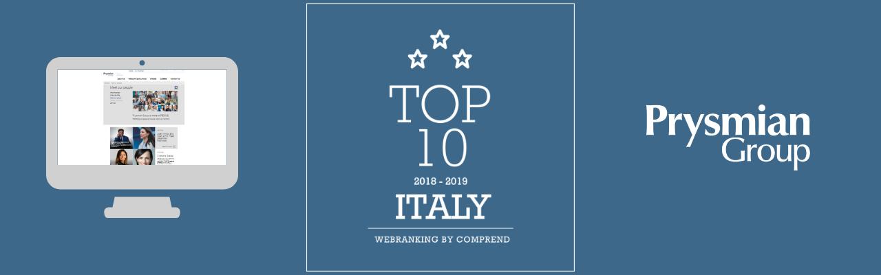 Webranking 2018: Prysmian Group guadagna un'altra posizione nella top 10
