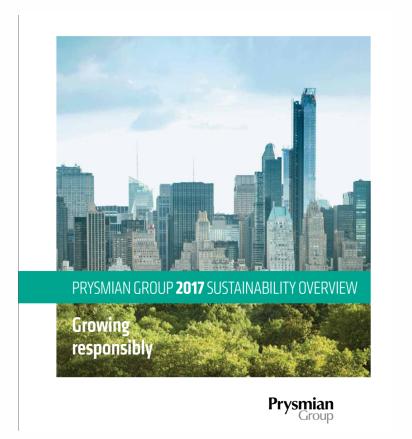 Fatti principali di sostenibilità 2017