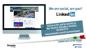 Prysmian Italia lancia la nuova pagina LinkedIn