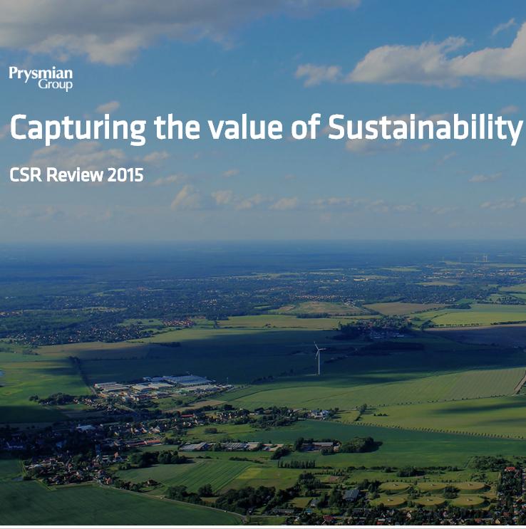 Blancio di sostenibilità 2015 (Minisito inglese)